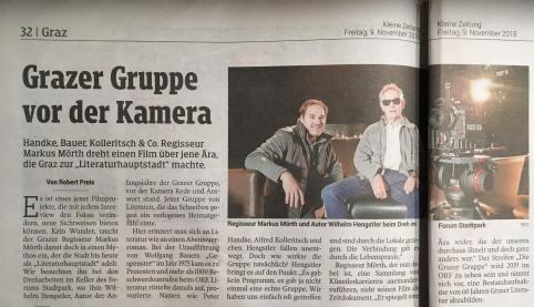 Die Grazer Gruppe in der Kleinen Zeitung 2018